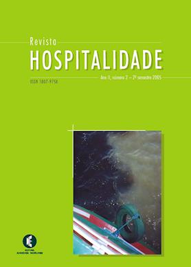 Hospitalidade, Ano II, No 2 – 2o semestre 2005