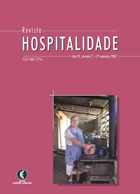Hospitalidade, Ano IV, No 2, Dezembro 2008